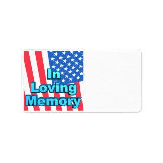 In Loving Memory Label