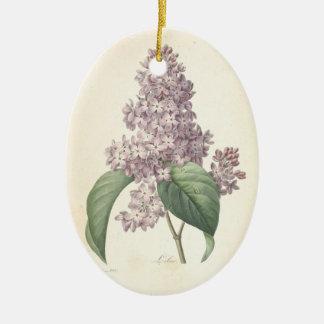 In Loving Memory Lilac custom Memorial Photo Ceramic Ornament