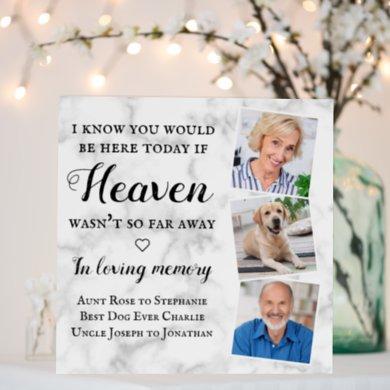 In Loving Memory Memorial 3 Photo Wedding  Foam Board