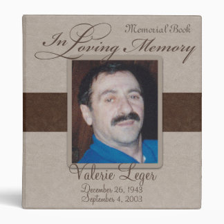 In Loving Memory Memorial / Guestbook 3 Ring Binder