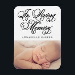 "In Loving Memory | Memorial Magnet<br><div class=""desc"">&#169;Fine and Dandy Paperie</div>"
