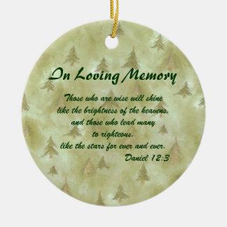 In Loving Memory Memorial Ornament