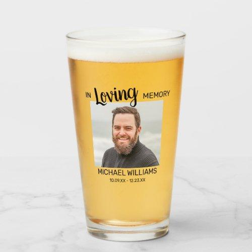 In Loving Memory | Memorial Personalized Photo Glass