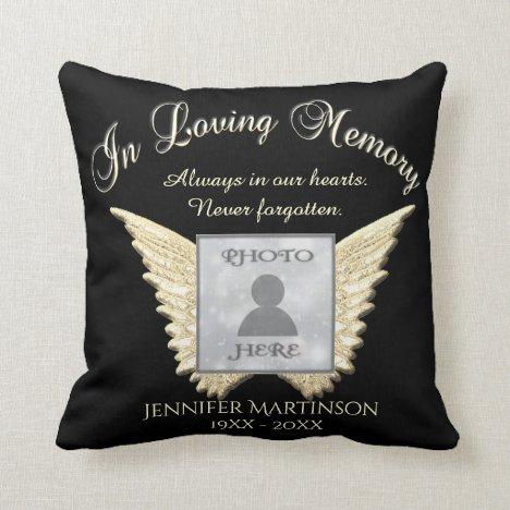 In Loving Memory Memorial Throw Pillow