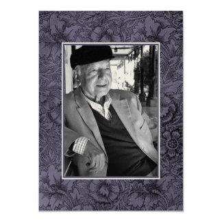 "In Loving Memory Memoriam Death Notice Photo 4.5"" X 6.25"" Invitation Card"