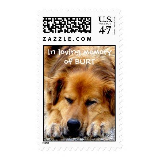 In loving memory of BURT Postage Stamp
