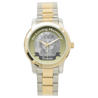In Loving Memory Of  Gold Photo Watch