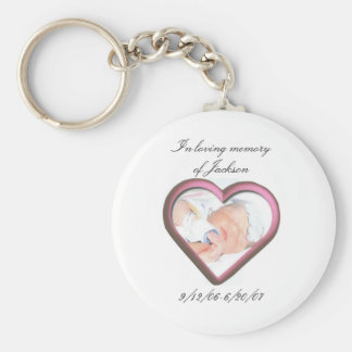 In loving memory of Jackson Basic Round Button Keychain