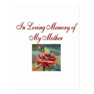 In Loving memory of my mother Postcard