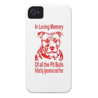 IN LOVING MEMORY OF PIT BULLS iPhone 4 CASE