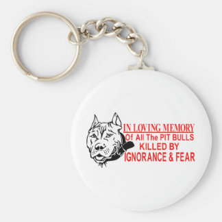 IN LOVING MEMORY OF PIT BULLS KEYCHAIN