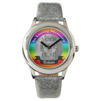 In Loving Memory Of Rainbow Photo Watch