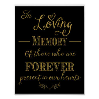 In Loving Memory of those who are forever print