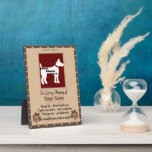 In Loving Memory of Your Dog (brown and white) Display Plaque