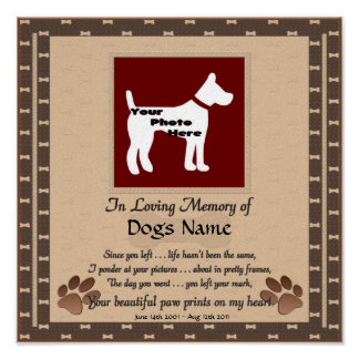 In Loving Memory of Your Dog (brown) Canvas Print
