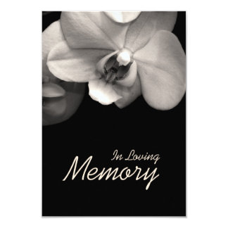 In Loving Memory Orchid Sepia Funeral Announcement
