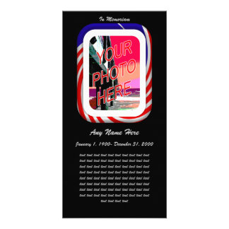 In Loving Memory- Patriotic remembrance Customized Photo Card
