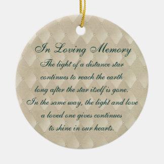 In Loving Memory Pearls and Diamonds Memorial Ceramic Ornament