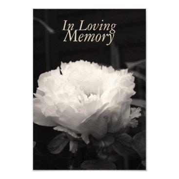 InMemory In Loving memory Peony Celebration of Life Card