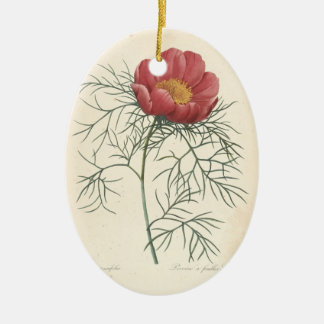 In Loving Memory Peony Custom Photo Memorial 1 Ceramic Ornament