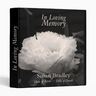 In Loving Memory  Peony  Funeral Guest Book Binder