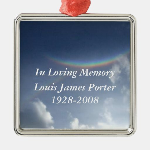In Loving Memory Personalized Christmas Ornament