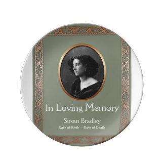 In Loving Memory Personalized Memorial Plate 1