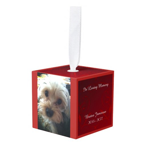 Personalized Christmas Memorial Dog Ornaments - Let\'s Personalize That