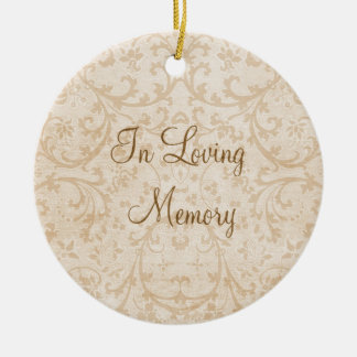 In Loving Memory Personalized Photo Memorial Double-Sided Ceramic Round Christmas Ornament