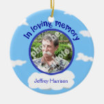 In Loving Memory Personalized Photo Sky Memorial Christmas Ornaments