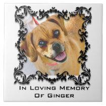 In Loving Memory Pet Memorial Photo Ceramic Tile