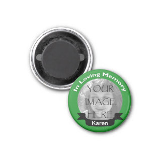 In Loving Memory Photo Green Magnet