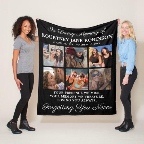 In Loving Memory Photo Memorial Fleece Blanket