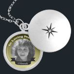 "In Loving Memory Photo Necklace<br><div class=""desc"">Just add your picture and name. click &quot;Customize it&quot; for more options,  colors ,  fonts.</div>"