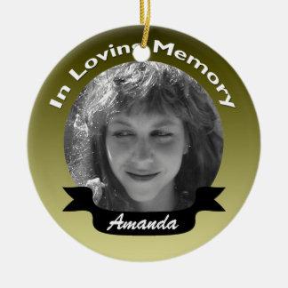 In Loving Memory Photo Ornament Gold Black