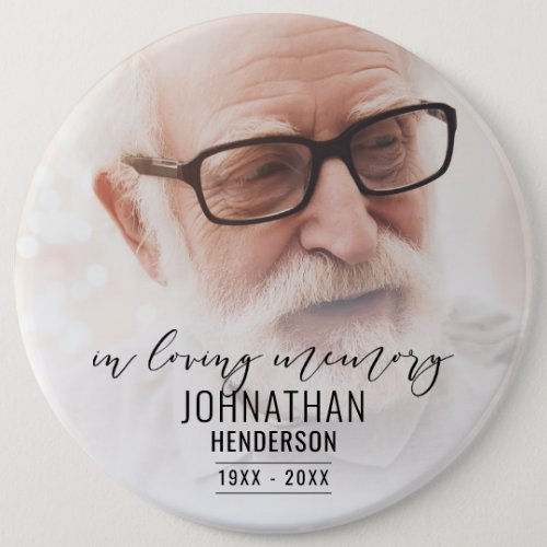 """In Loving Memory"" Photo Tribute Pin Button"