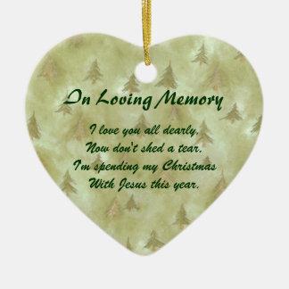 In Loving Memory Pine Memorial Ornament