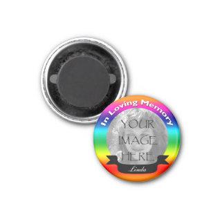 In Loving Memory Rainbow Photo Magnet