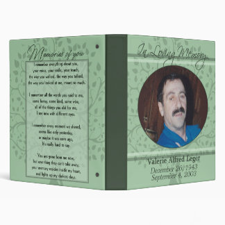 In Loving Memory / Remembrance Custom 3 Ring Binder
