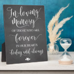 """In Loving Memory Remembrance Wedding Ceremony Sign Plaque<br><div class=""""desc"""">Rustic chalk memorial sign for your wedding reception!</div>"""