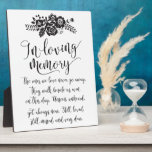 """In Loving Memory Remembrance Wedding Ceremony Sign Plaque<br><div class=""""desc"""">Meaningful floral memorial sign for your wedding reception or ceremony!</div>"""
