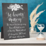 """In Loving Memory Remembrance Wedding Ceremony Sign Plaque<br><div class=""""desc"""">Rustic chalk floral hearts memorial sign for your wedding reception!</div>"""