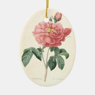 In Loving Memory Rose 2 Custom Photo Memorial Ceramic Ornament