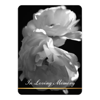 In Loving Memory - Rose Funeral Memorial Service 5x7 Paper Invitation Card