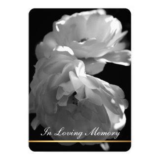 In Loving Memory Rose Funeral Memorial Service Card