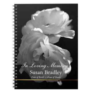In Loving Memory Roses Funeral Guest Book 1 Spiral Notebook