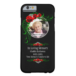 In Loving Memory Roses Pearls Bereavment Barely There iPhone 6 Case