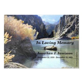 "In Loving Memory Service Invitation 5"" X 7"" Invitation Card"