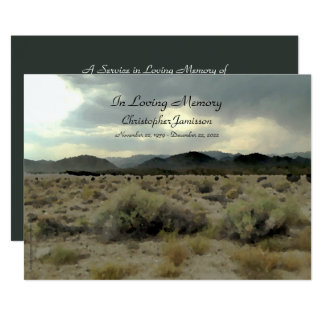 In Loving Memory Service Invitation Mountain Storm