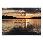 In Loving Memory Service Invitation Sunset at Lake